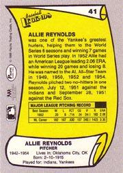 1988 Pacific Legends I #41 Allie Reynolds back image
