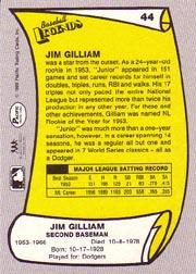 1988 Pacific Legends I #44 Jim Gilliam back image