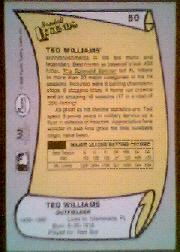 1988 Pacific Legends I #50 Ted Williams back image