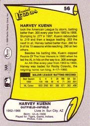 1988 Pacific Legends I #56 Harvey Kuenn back image