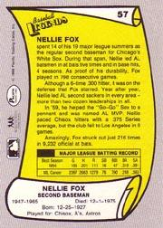 1988 Pacific Legends I #57 Nellie Fox back image
