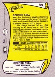 1988 Pacific Legends I #69 George Kell back image