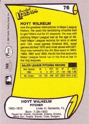 1988 Pacific Legends I #76 Hoyt Wilhelm back image