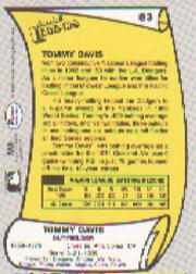 1988 Pacific Legends I #83 Tommy Davis back image