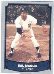 1988 Pacific Legends I #85 Sal Maglie UER/(1945-1917 on back)
