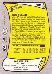 1988 Pacific Legends I #101 Bob Feller back image