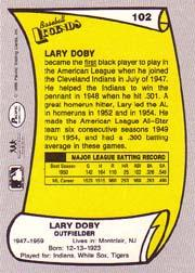 1988 Pacific Legends I #102 Larry Doby back image