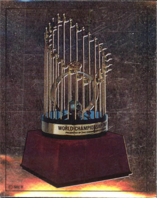1988 Panini Stickers #1 1987 WS Trophy