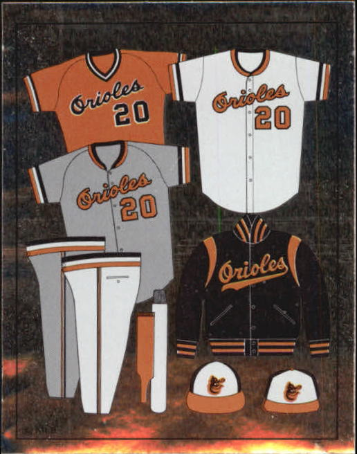 1988 Panini Stickers #3 Orioles Uniform