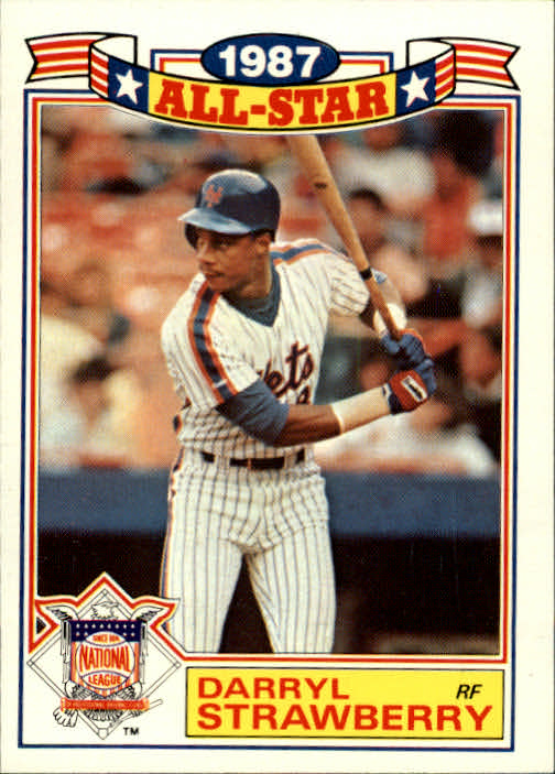 1988 Topps Glossy All-Stars #19 Darryl Strawberry