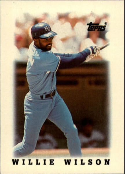 1988 Topps Mini Leaders #17 Willie Wilson