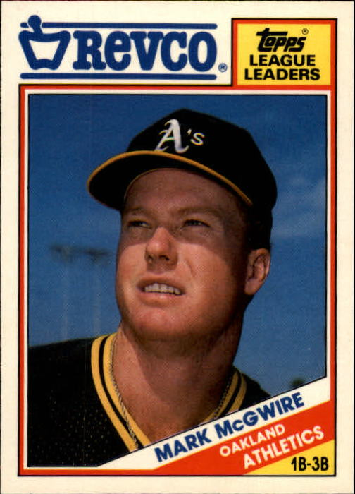 1988 Topps Revco League Leaders #17 Mark McGwire