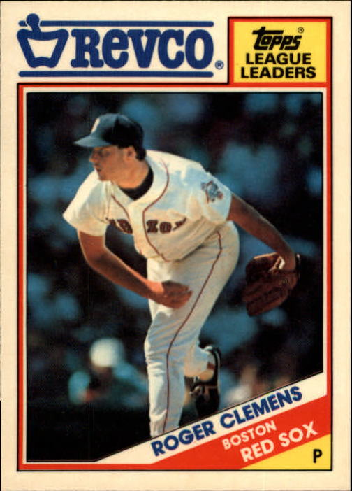 1988 Topps Revco League Leaders #28 Roger Clemens