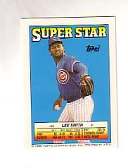 1988 Topps/O-Pee-Chee Sticker Backs #33 Lee Smith