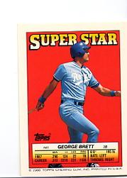 1988 Topps/O-Pee-Chee Sticker Backs #41 George Brett