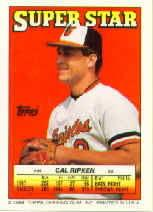 1988 Topps/O-Pee-Chee Sticker Backs #44 Cal Ripken