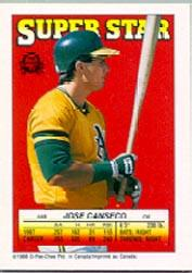 1988 Topps/O-Pee-Chee Sticker Backs #48 Jose Canseco