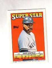 1988 Topps/O-Pee-Chee Sticker Backs #54 Dave Winfield