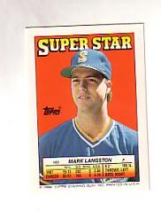 1988 Topps/O-Pee-Chee Sticker Backs #63 Mark Langston
