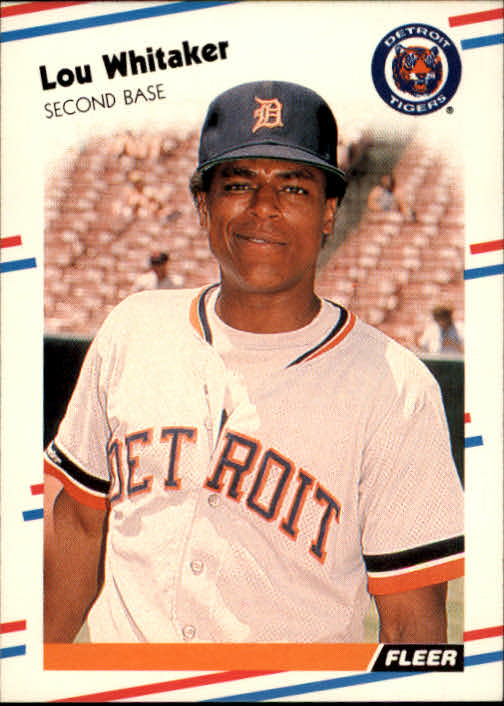 1988 Fleer #75 Lou Whitaker