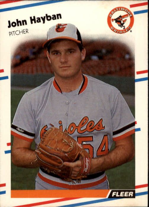 1988 Fleer #562 John Habyan UER/(Misspelled Hayban on/both sides