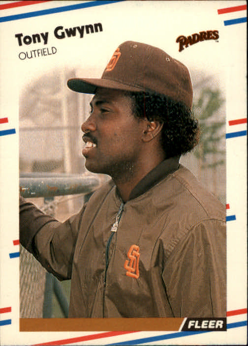 1988 Fleer #585 Tony Gwynn