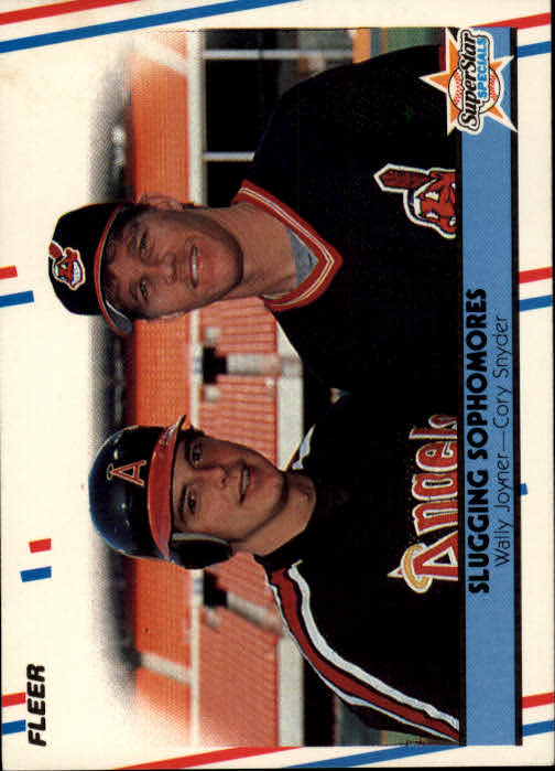 1988 Fleer #622 Slugging Sophomores/Wally Joyner/Cory Snyder