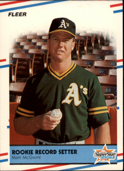1988 Fleer #629 Mark McGwire HL front image
