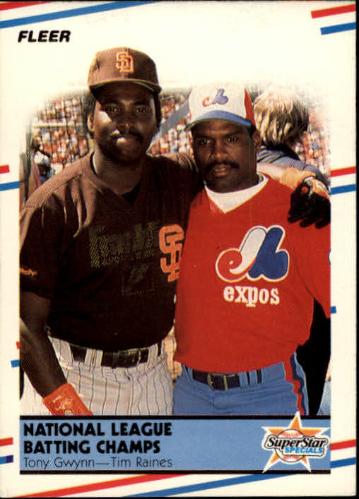 1988 Fleer #631 Tony Gwynn/T.Raines