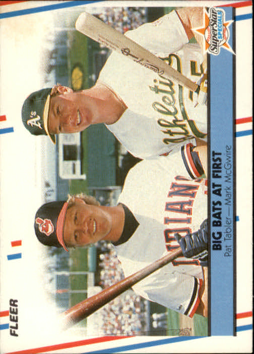 1988 Fleer #633 Pat Tabler/Mark McGwire