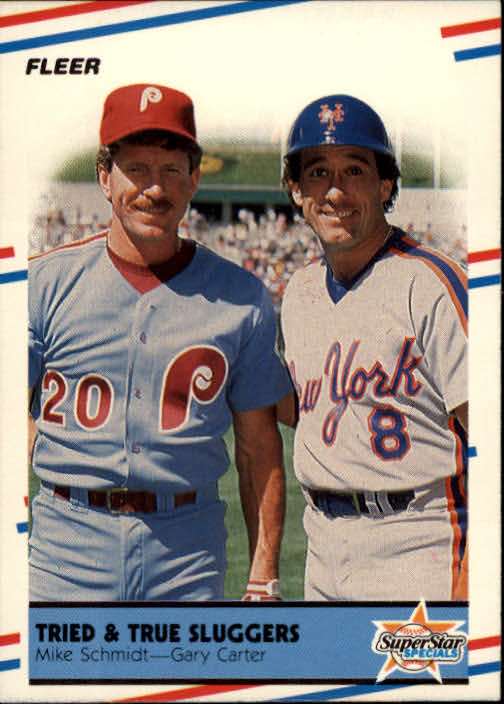 1988 Fleer #636 Mike Schmidt/G.Carter