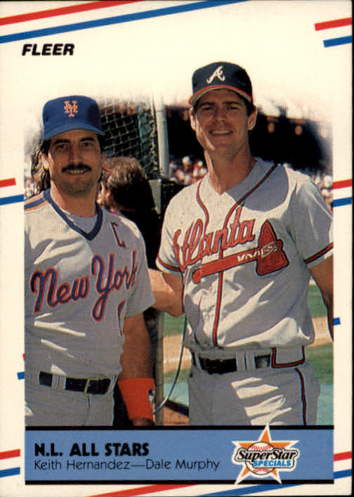 1988 Fleer #639 NL All-Stars/Keith Hernandez/Dale Murphy