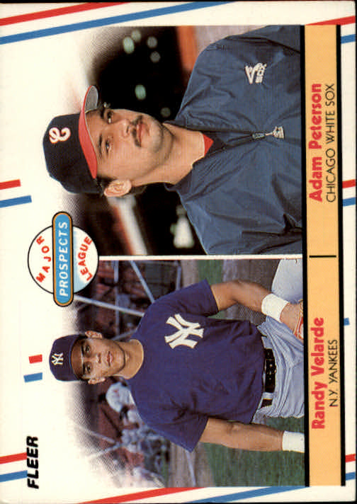 1988 Fleer #646 A.Peterson RC/R.Velarde RC