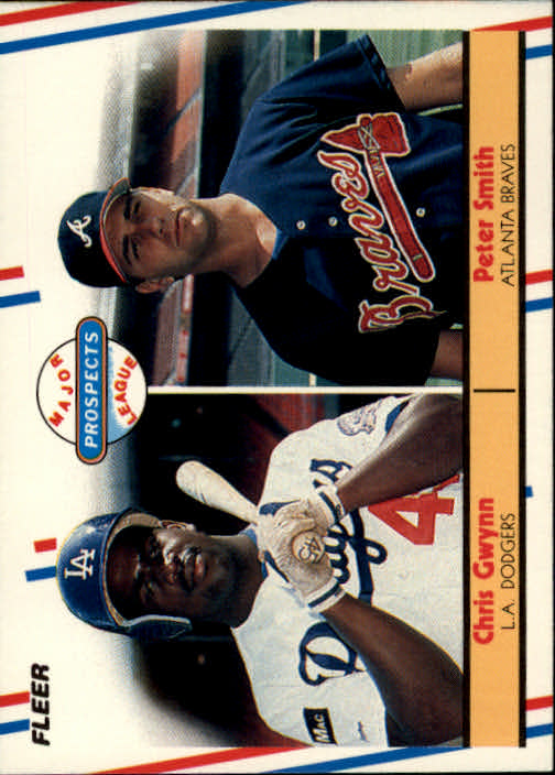1988 Fleer #647 Pete Smith RC/Chris Gwynn RC