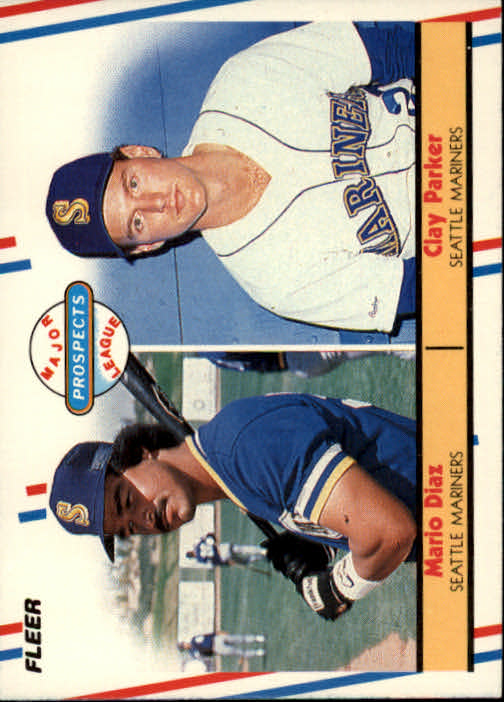 1988 Fleer #649 M.Diaz/C.Parker RC