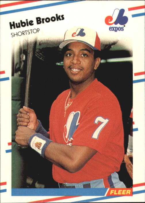1988 Fleer Glossy #179 Hubie Brooks