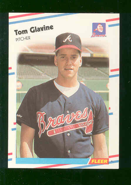 1988 Fleer Glossy #539 Tom Glavine