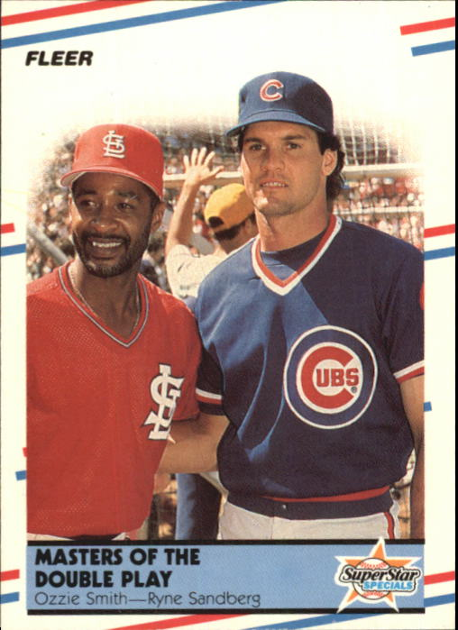 1988 Fleer Glossy #628 O.Smith/R.Sandberg