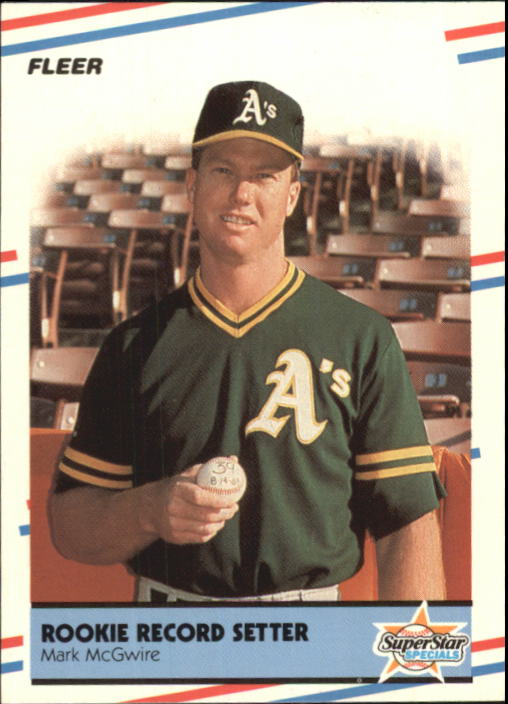 1988 Fleer Glossy #629 Mark McGwire HL