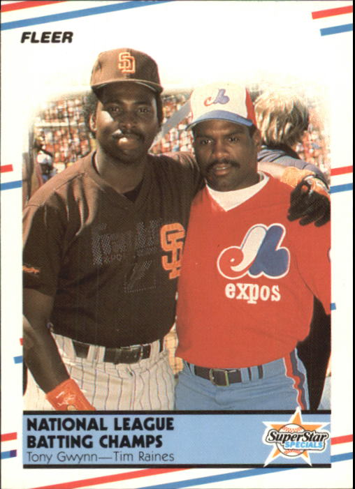 1988 Fleer Glossy #631 Tony Gwynn/T.Raines