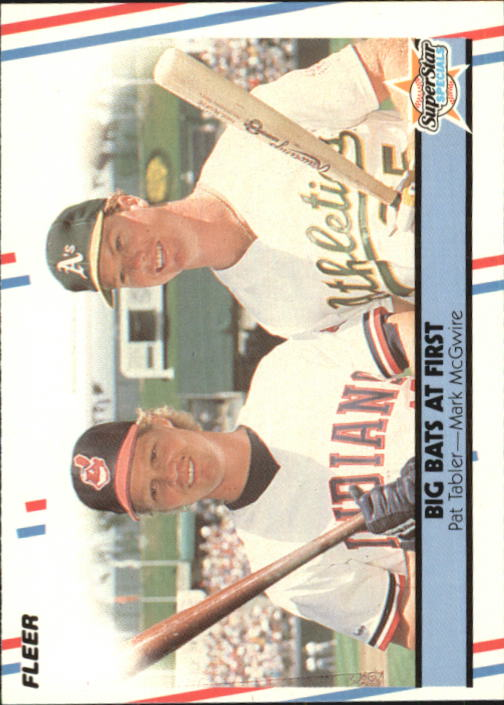 1988 Fleer Glossy #633 Mark McGwire/Tabler