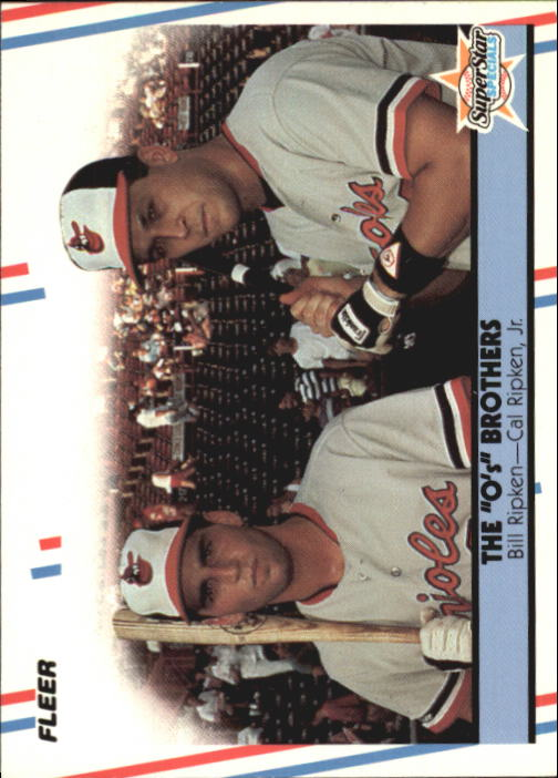 1988 Fleer Glossy #640 The Ripken Brothers