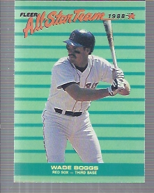 1988 Fleer All-Stars #8 Wade Boggs