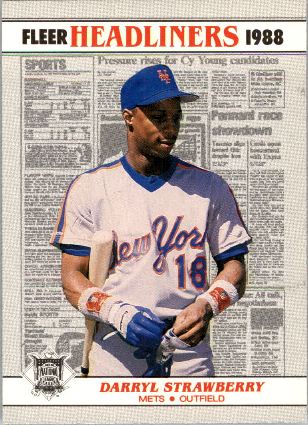 1988 Fleer Headliners #4 Darryl Strawberry
