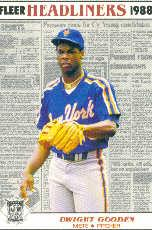 1988 Fleer Headliners #5 Dwight Gooden