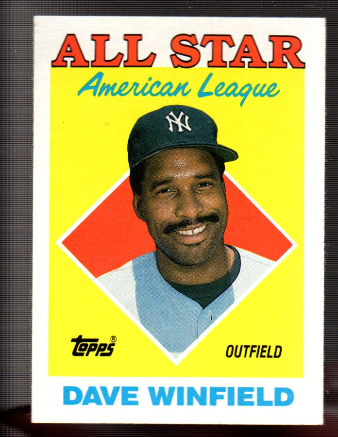 1988 Topps #392 Dave Winfield AS