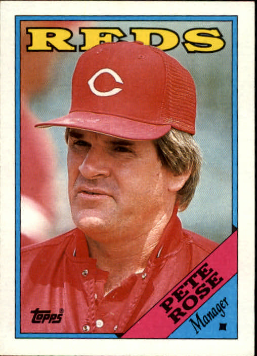 1988 Topps #475 Pete Rose MG/TC