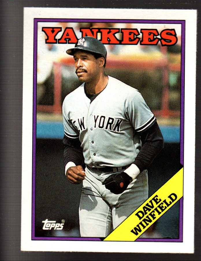 1988 Topps #510 Dave Winfield