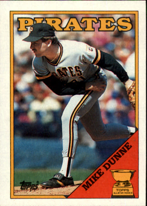 1988 Topps #619 Mike Dunne/(Inconsistent design&/black name on f