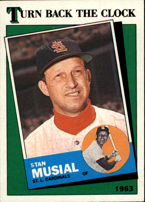 1988 Topps #665 Stan Musial TBC '63
